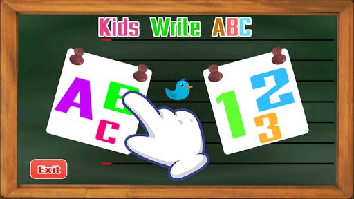 Kids write ABC