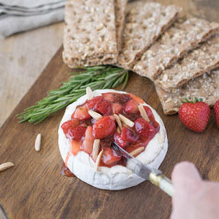 Baked Brie with Strawberries and Rosemary Recipe