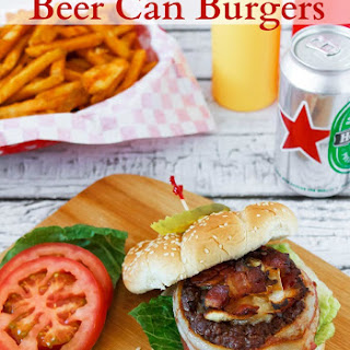 Bacon Wrapped Beer Can Burgers