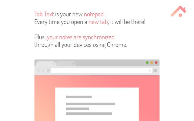 TabText. Een kladblok in elk nieuw tabblad Screenshot