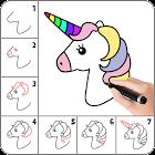 一步一步学画画:一步一步学习如何画卡通人物或其他物品以及如何上色 icon
