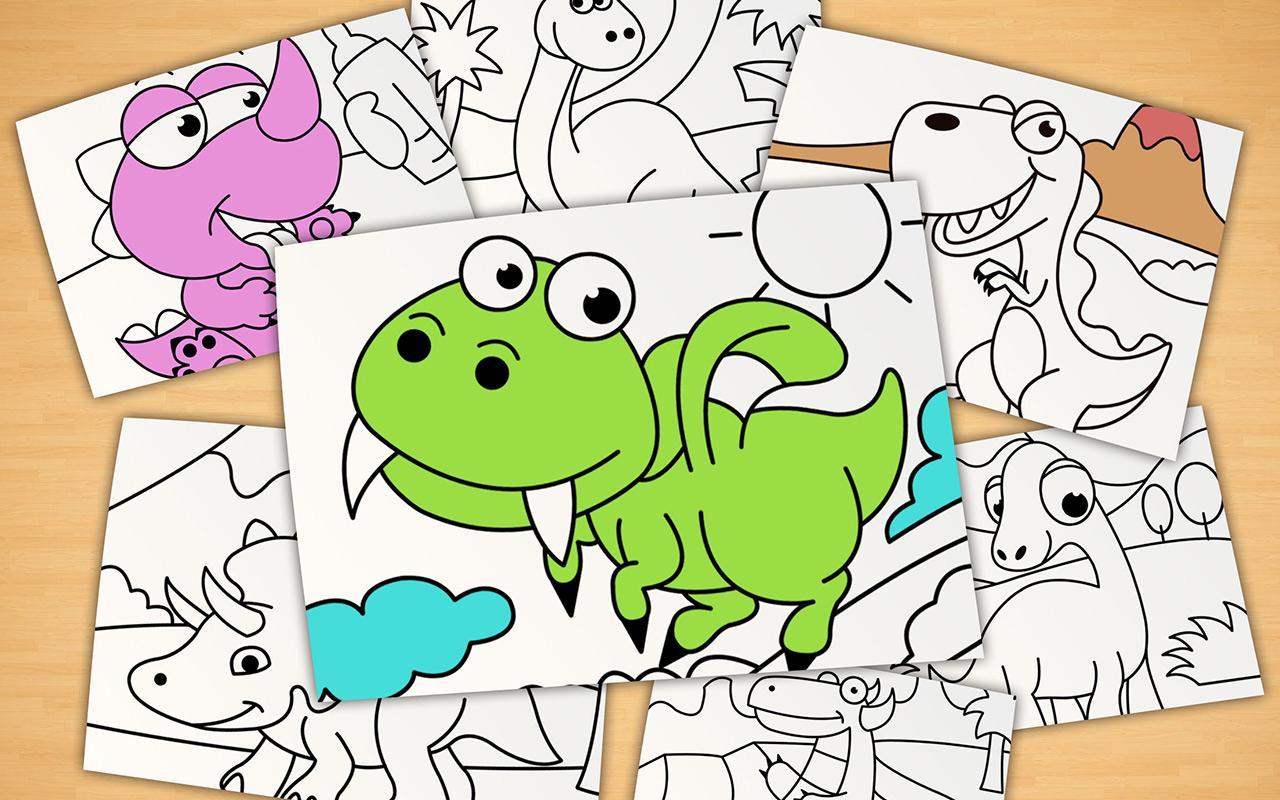 Kids coloring book - Kids Coloring Book Dino Park Screenshot