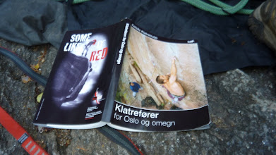 Photo: The others flew back, so it's time for some climbing at Hauktjern near Oslo with Kolo