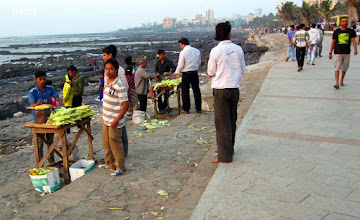 Photo: 2012 - Hawkers on Promenade - Bhutta wala