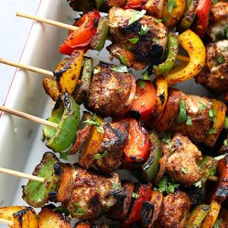 Grilled Chicken Fajita Kebabs in Under 30 Minutes.