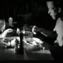Photo: a frame from a stop motion candle light dinner, me and three friends. This image is of Jeff Harms.