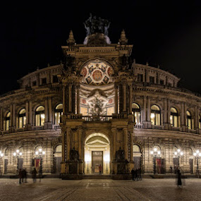 Semperoper by Kai Buddensiek - Buildings & Architecture Public & Historical ( deutschland, hdr, germany, night, dresden, 16-35, nacht, semperoper )