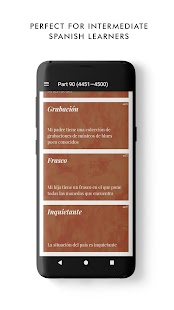 Fivey: learn 5,000 Spanish words (+examples) Screenshot