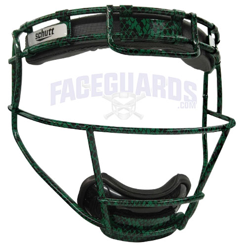 Schutt Pitchers Facemask Forest Green Lizard