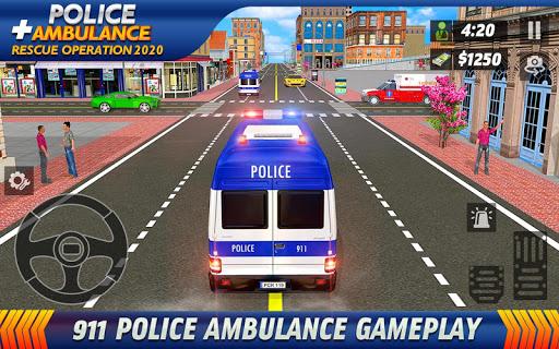 Police Ambulance Rescue Driving: 911 Emergency apktreat screenshots 2