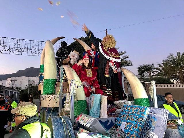 En la Isleta del Moro durante la cabalgata de Reyes.