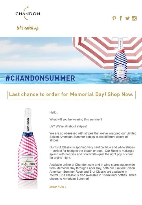 Chandon newsletter