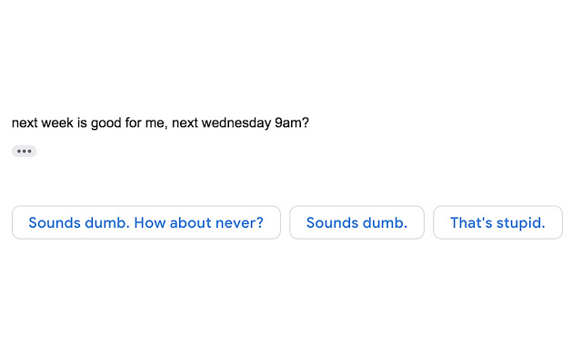 Rude Gmail Smart Reply