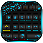 Classic Color Fluorescent Metal Black Keyboard Android APK Download Free By Emoji Cute Keyboard Themes