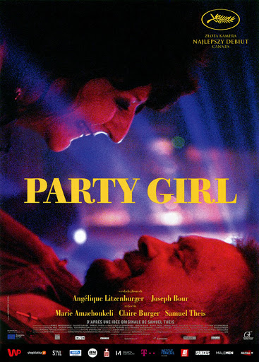 Przód ulotki filmu 'Party Girl'