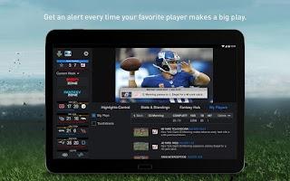Screenshot of NFL Sunday Ticket for Tablets