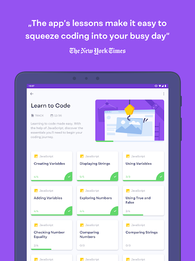 Mimo: Learn to Code HTML, CSS, JavaScript & more screenshots 13