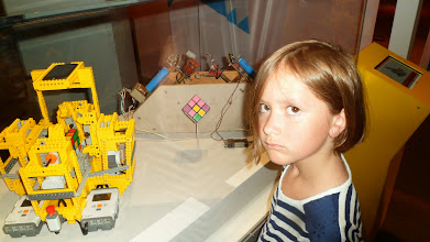 Photo: Rubik's Cube exhibit - Gen was mad I made her look at the whole exhibit instead of playing at a table