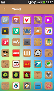 Modern wood - icon pack v1.0.0
