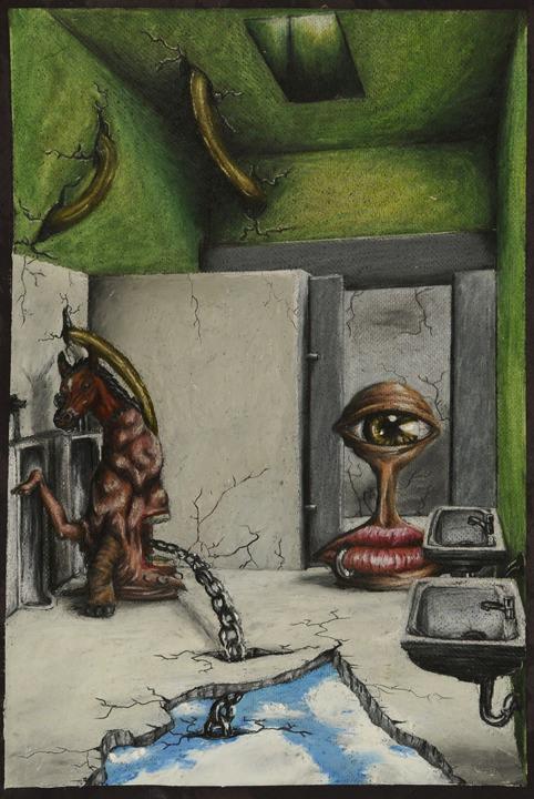 B-jankleysurreal_green_bathroom