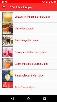 30+ Juice Recipes - screenshot