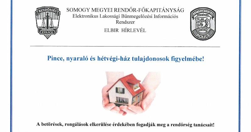 Pince, nyaraló és hétvégi házak védelme - 2017