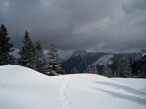 Photo: Blick zurück zum Gippel