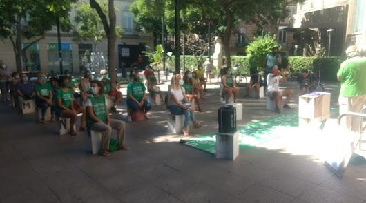'Marea Verde' se concentra en Almería para reivindicar una vuelta segura al cole