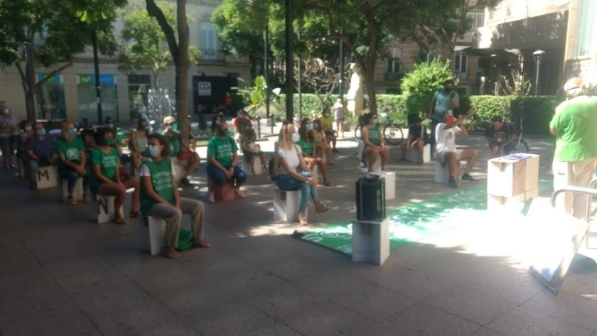 Concentración de \'Marea Verde\' ayer sábado en Almería