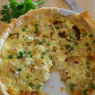 Roasted Cauliflower Open Pie – Vegetarian
