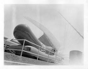 Photo: original weinermobile. shot using a holga with a polaroid attachment.