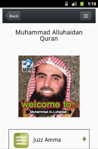 Quran Mp3 - Muhammad Luhaidan