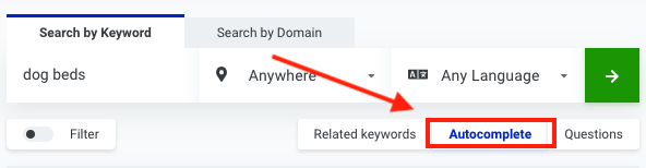 search by domain