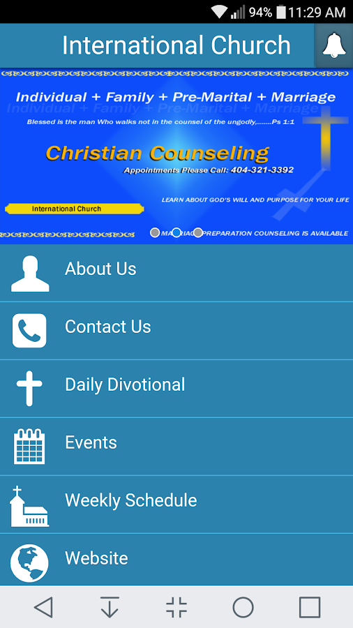 International Church- screenshot