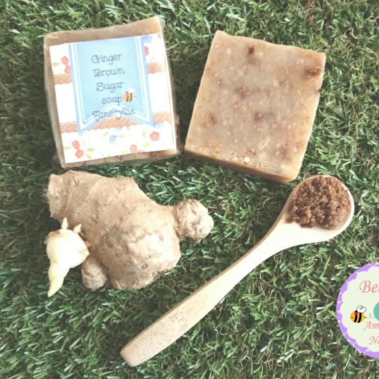 Bentong ginger brown sugar soap by ameryllis nature soap
