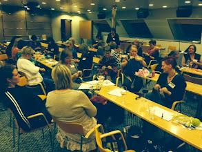 """Photo: Vi hade en s-t-o-r konferenslokal till vårt förfogande när det var gemensamma """"träff-tider""""."""