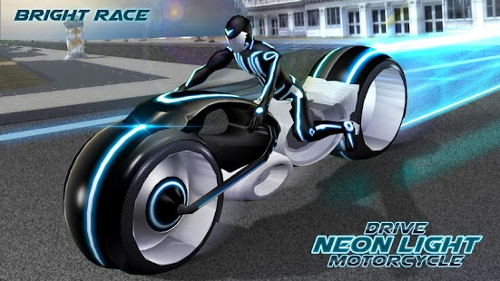 Drive Neon Light Motorcycle - náhled