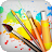 Drawing Desk Draw Paint Color Doodle & Sketch Pad logo