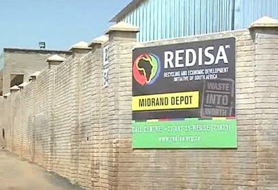 A sign outside Recycling and Economic Development Initiative of SA's plant in Midrand. Picture: SUPPLIED