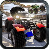 Chained Monster Truck Ramp Race - Crazy Rivals 3D
