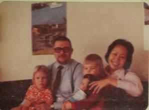 Photo: 19731120 Salla, Asko, Sanna, Kazumi