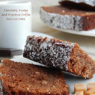Chocolate, Fudge and Espresso Coffee Drizzle Cake.