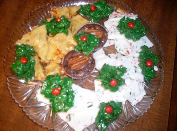 The Pretty Green Holly Really Pulls Together The Presentation Of Your Cookie Plate!