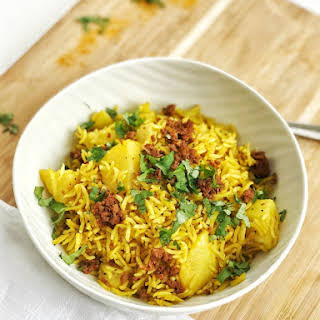 Instant Pot Tahari- Yellow Rice with Potatoes.