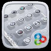 55° Grey GO Launcher Theme