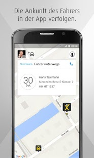 mytaxi – Die Taxi App Screenshot