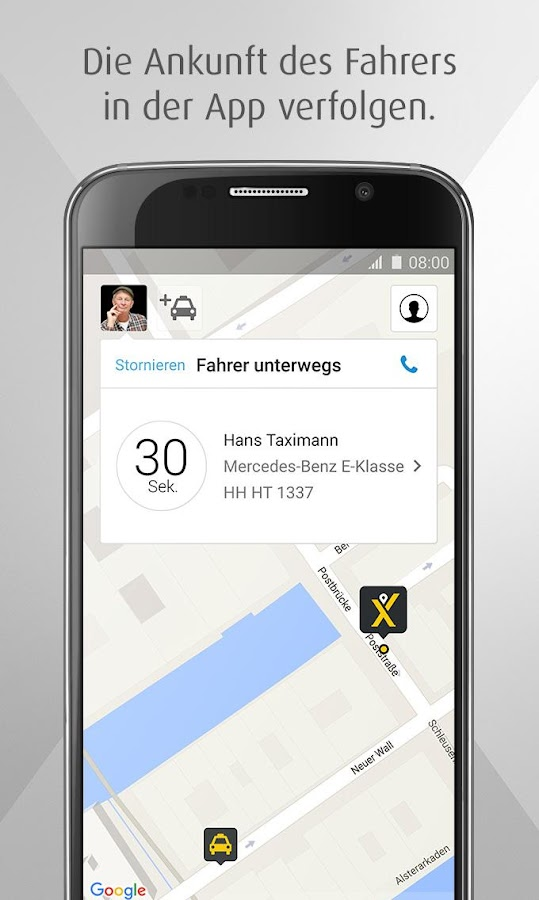 mytaxi – Die Taxi App – Screenshot