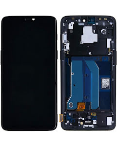 OnePlus 6 LCD Display with Frame Mirror Black