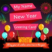 My Name New Year Greeting Card