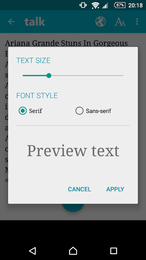 Talk - Text to Voice FREE- screenshot